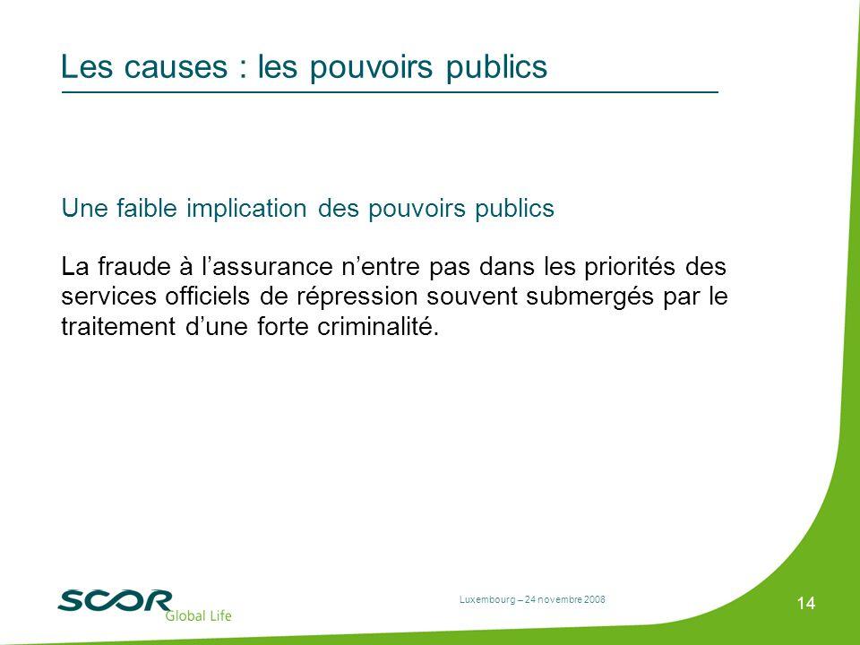 Les causes : les pouvoirs publics