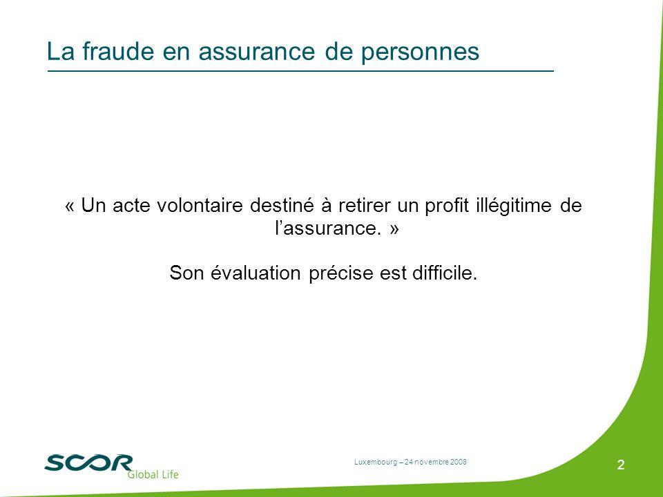 La fraude en assurance de personnes