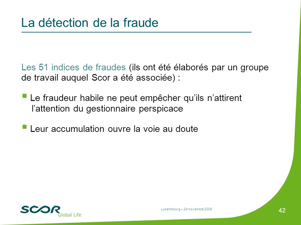 La détection de la fraude