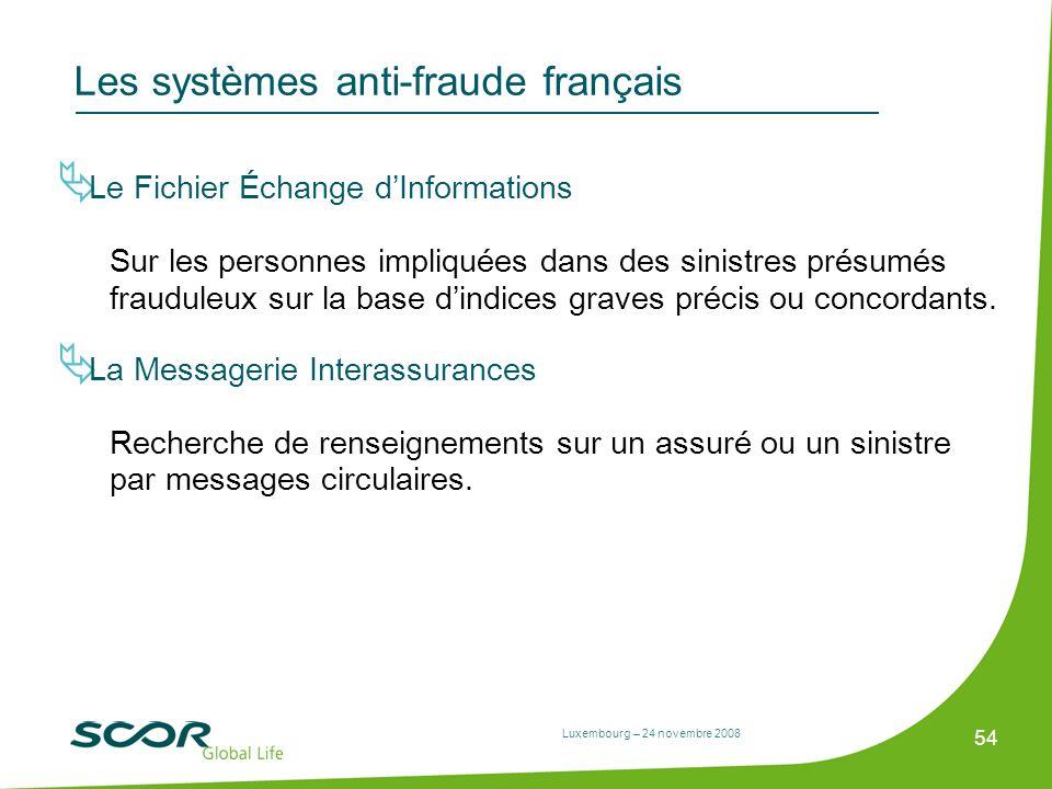 Les systèmes anti-fraude français