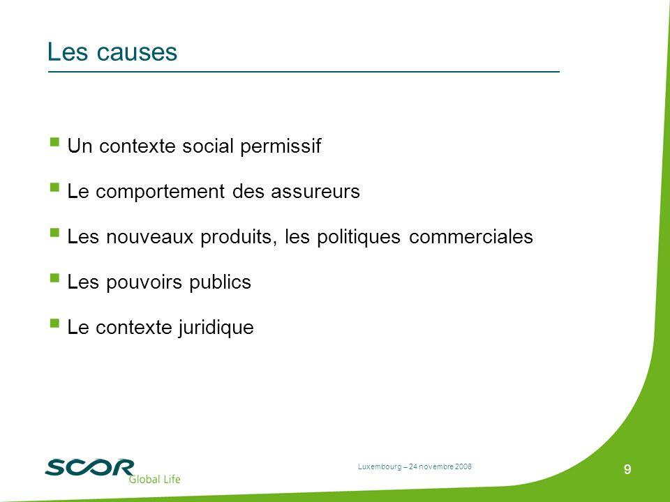 Les causes Un contexte social permissif Le comportement des assureurs