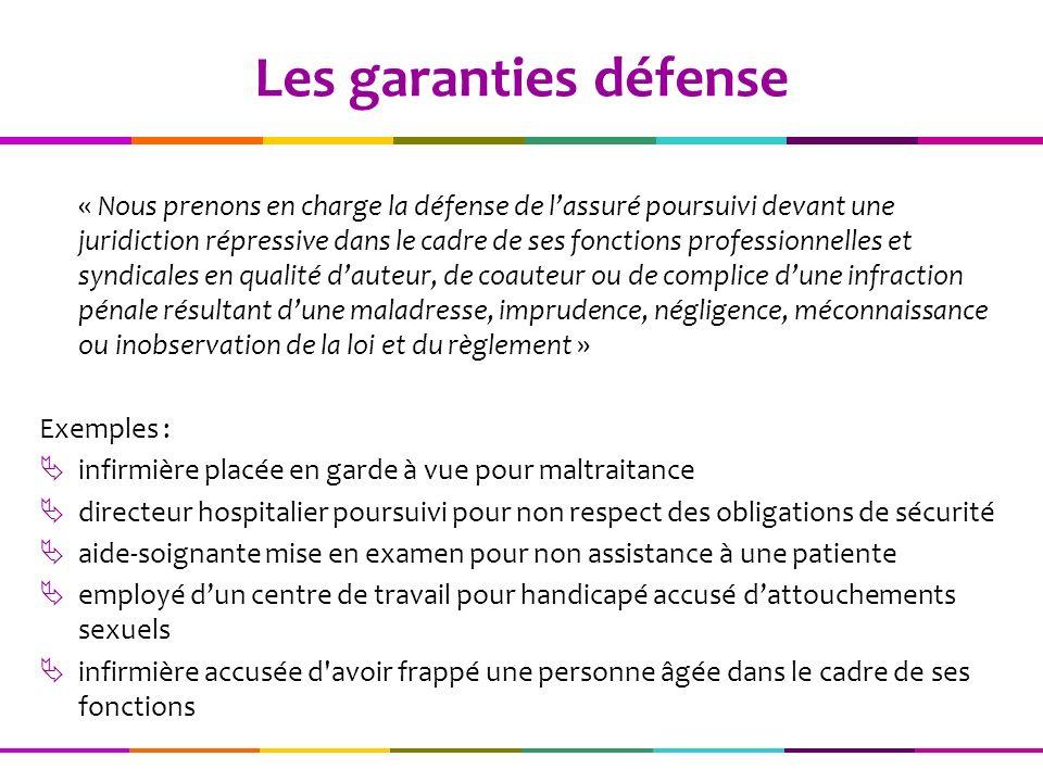 Les garanties défense