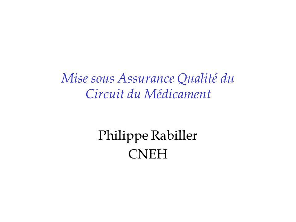 Mise sous Assurance Qualité du Circuit du Médicament