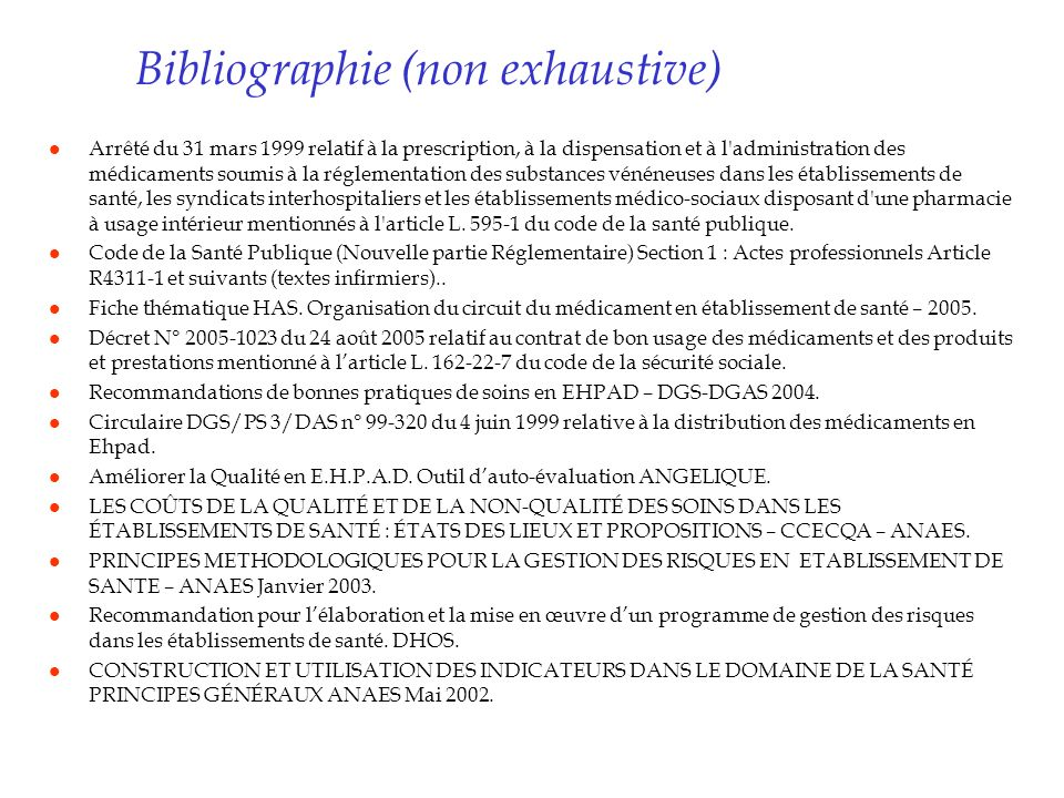 Bibliographie (non exhaustive)