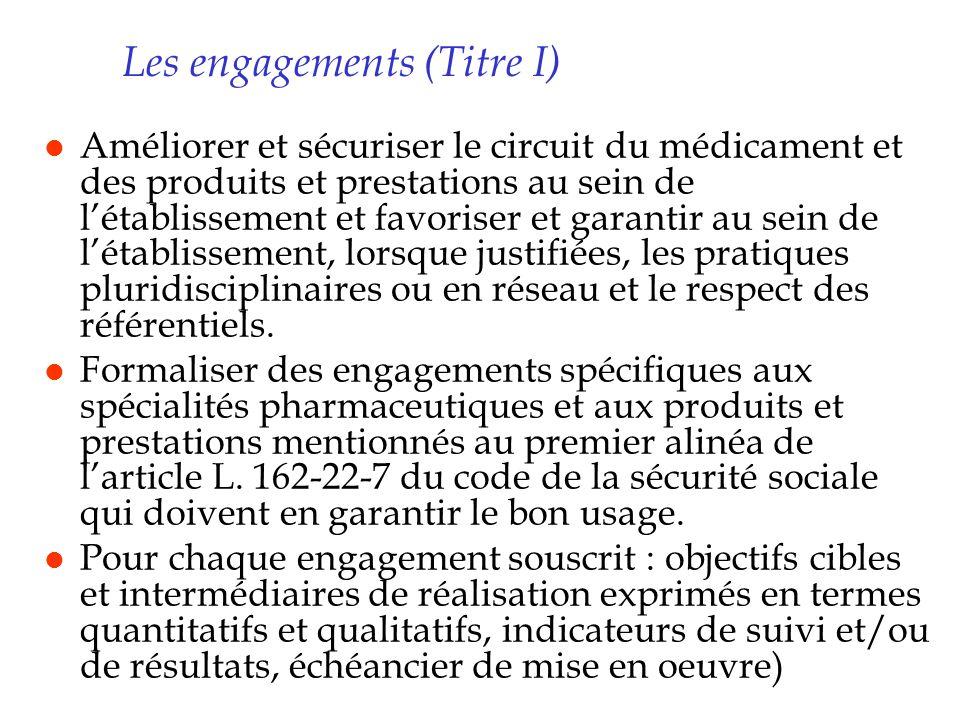 Les engagements (Titre I)