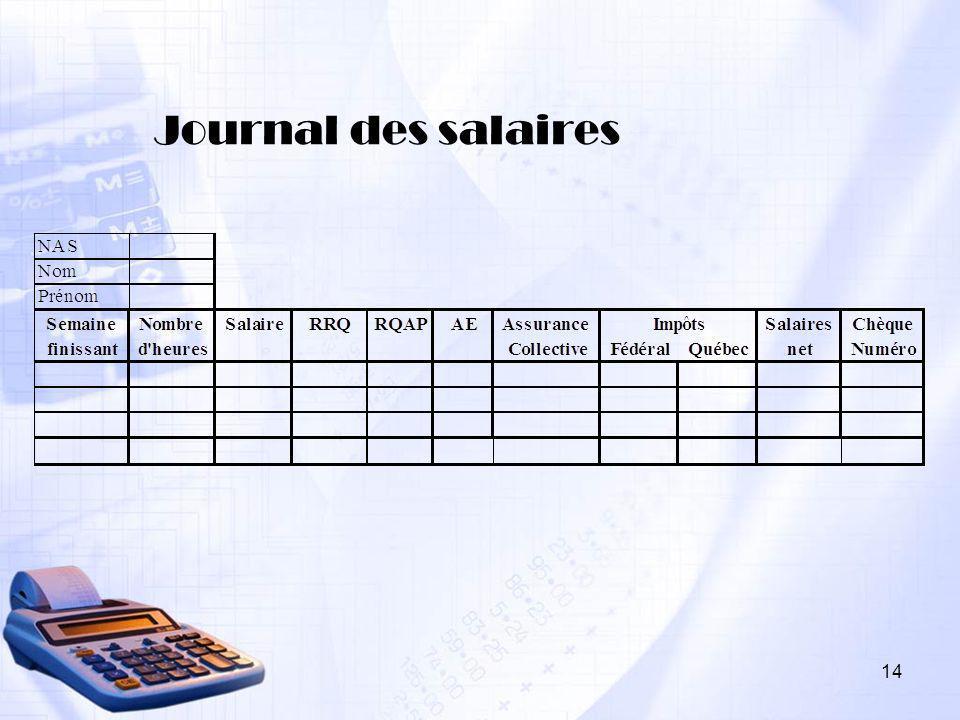 Journal des salaires