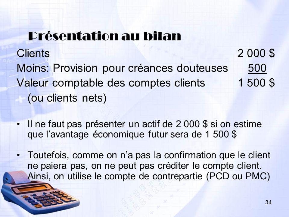 Présentation au bilan Clients 2 000 $
