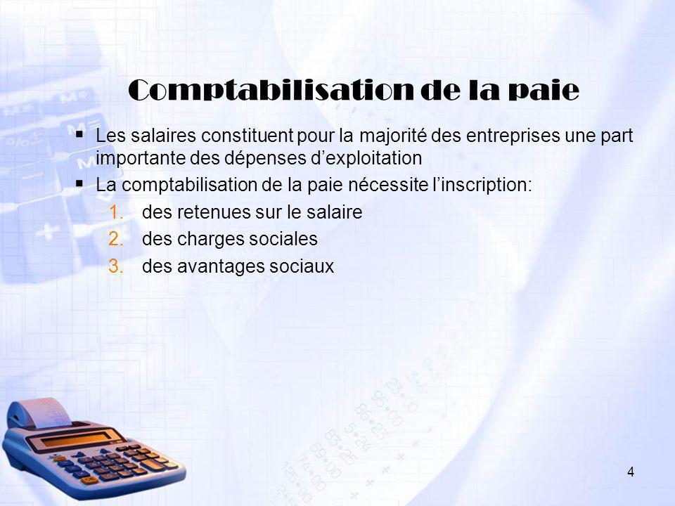Comptabilisation de la paie