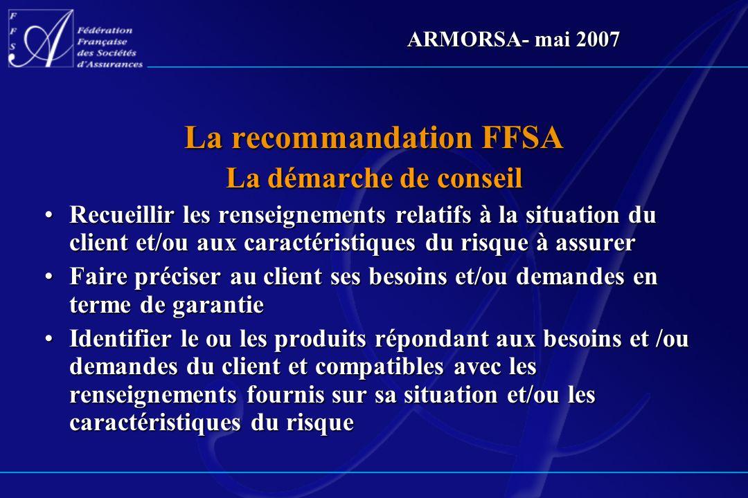 La recommandation FFSA