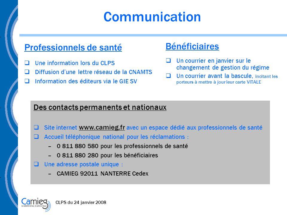 Communication Professionnels de santé Bénéficiaires