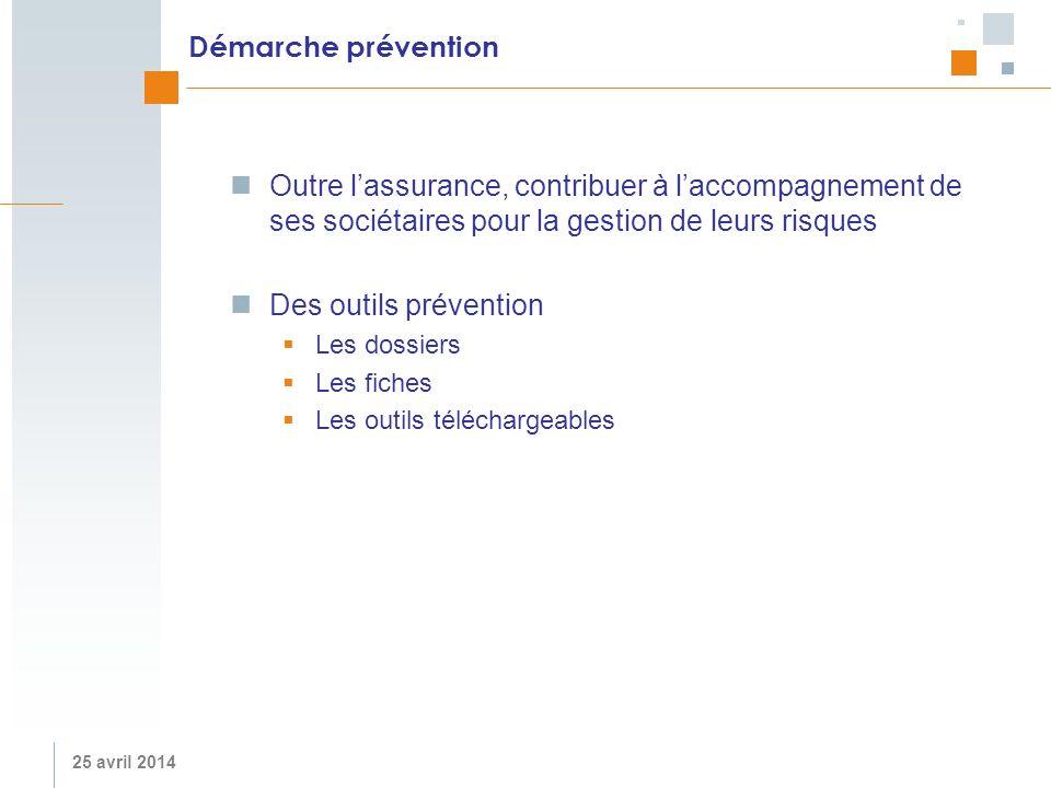 Démarche prévention Outre l'assurance, contribuer à l'accompagnement de ses sociétaires pour la gestion de leurs risques.