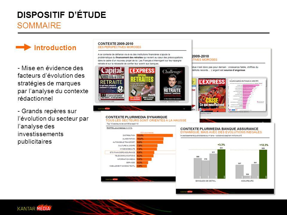 DISPOSITIF D'ÉTUDE SOMMAIRE Introduction