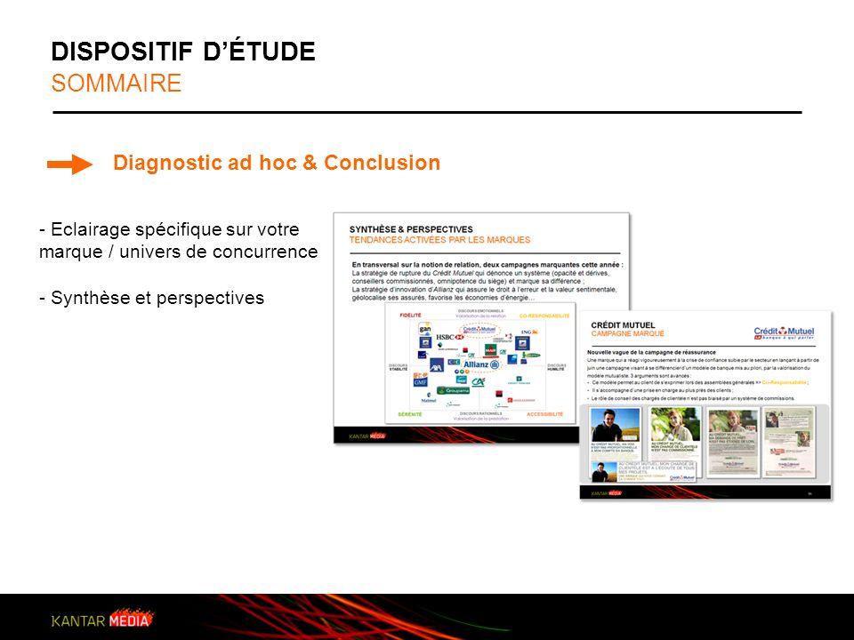 DISPOSITIF D'ÉTUDE SOMMAIRE Diagnostic ad hoc & Conclusion