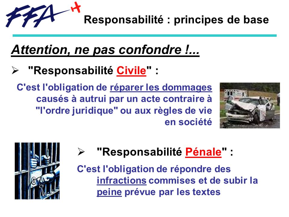 Responsabilité : principes de base
