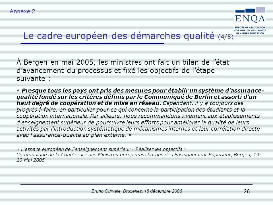 Le cadre européen des démarches qualité (3/5)