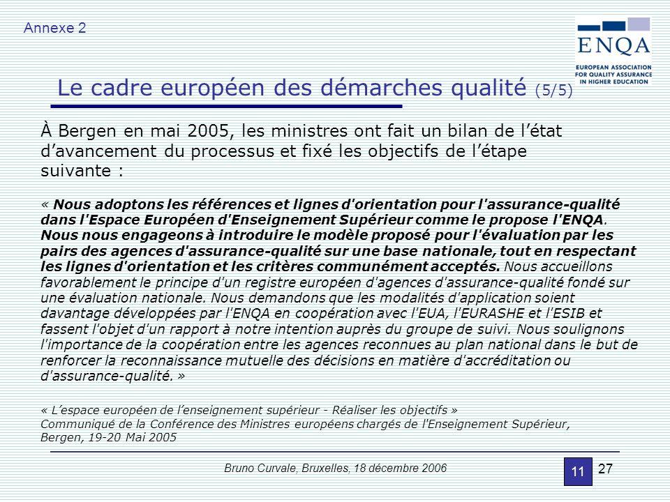 Le cadre européen des démarches qualité (4/5)