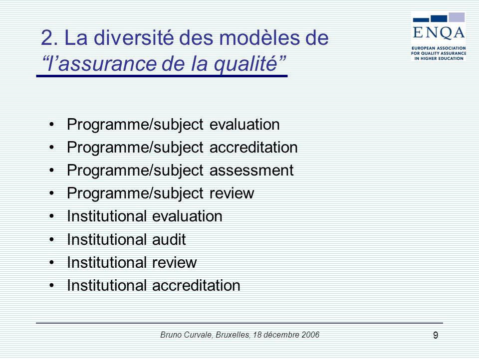 2. La diversité des finalités de l'assurance de la qualité