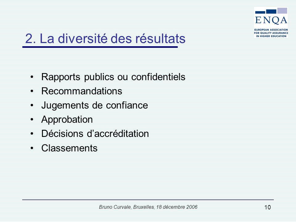 2. La diversité des modèles de l'assurance de la qualité