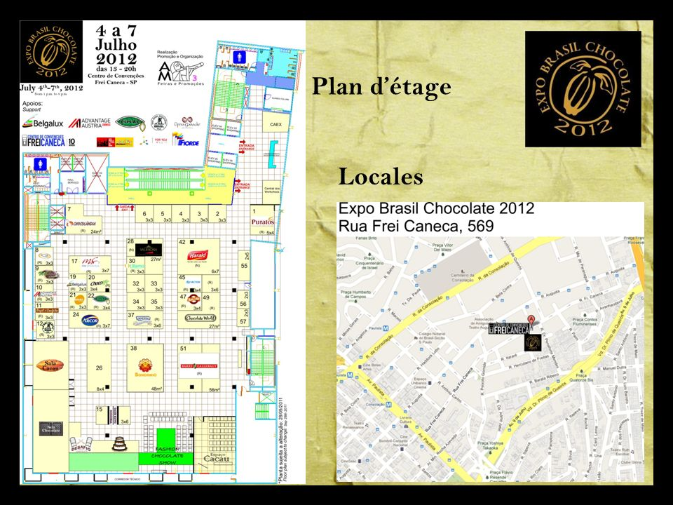 Plan d'étage Locales