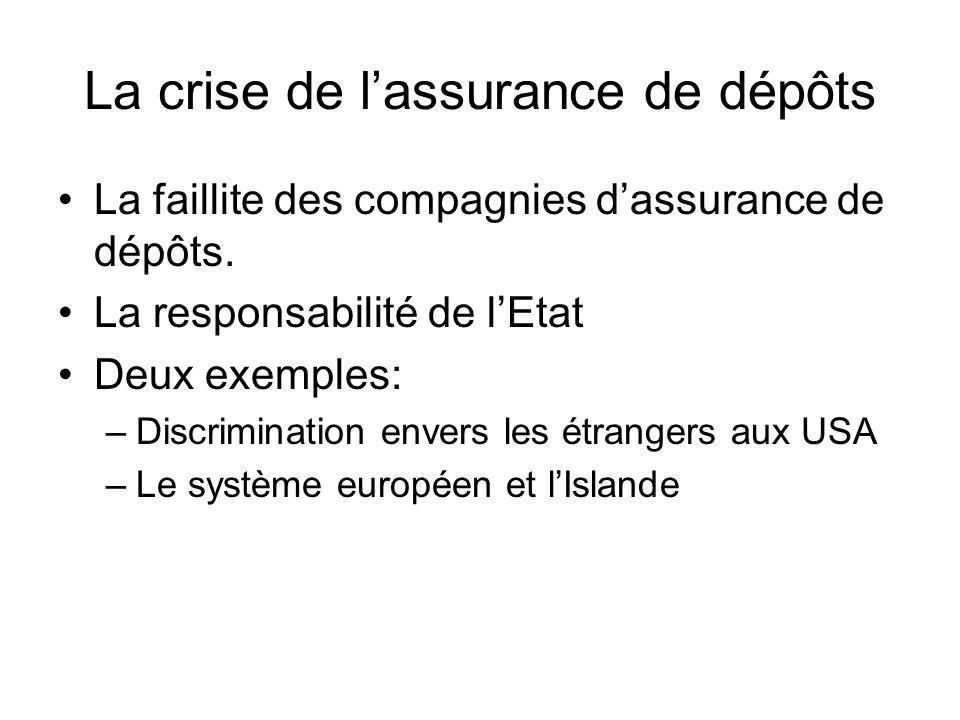 La crise de l'assurance de dépôts