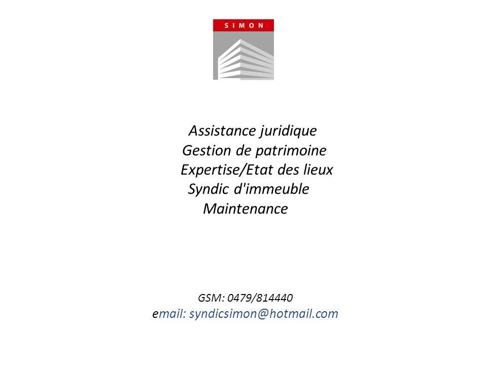 Assistance juridique Gestion de patrimoine