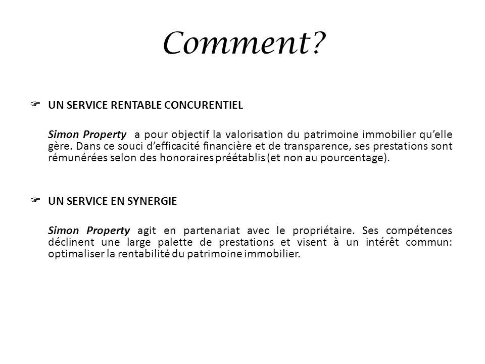 Comment UN SERVICE RENTABLE CONCURENTIEL