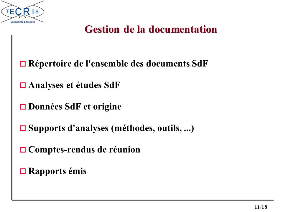 Gestion de la documentation