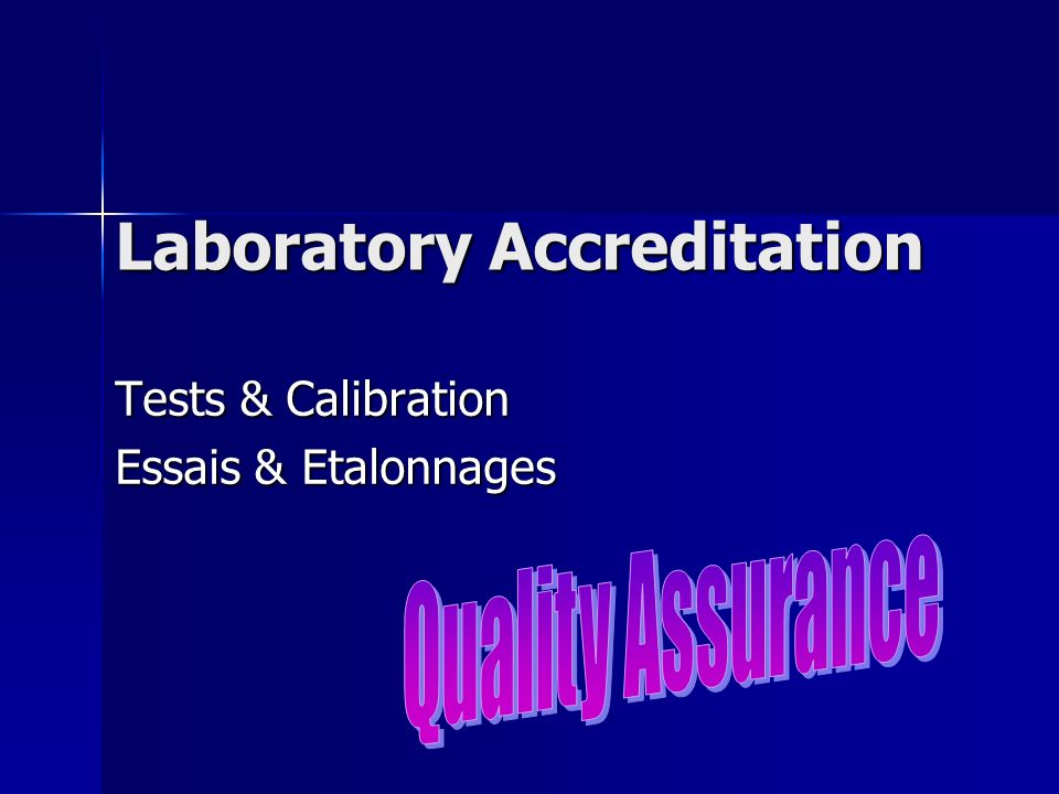 Laboratory Accreditation
