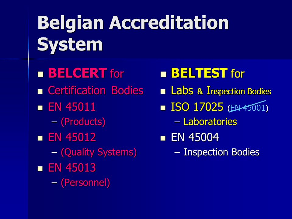 Belgian Accreditation System