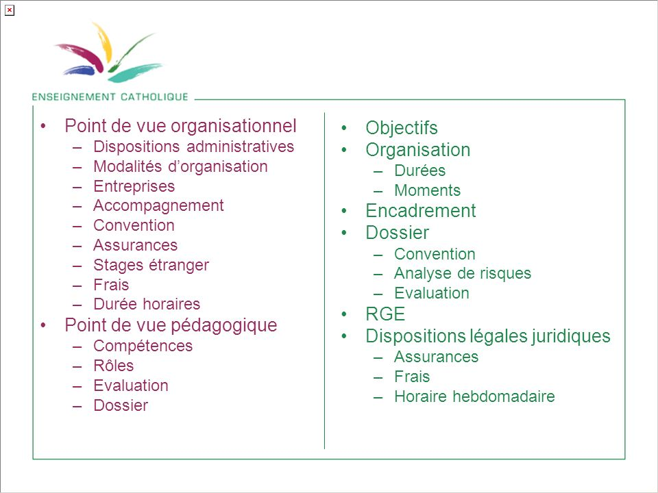 Point de vue organisationnel