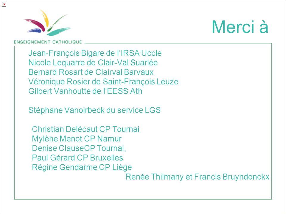 Merci à Jean-François Bigare de l'IRSA Uccle