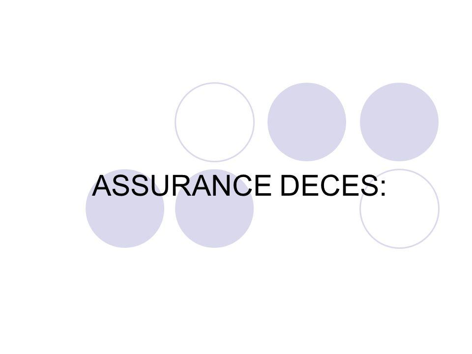 ASSURANCE DECES: