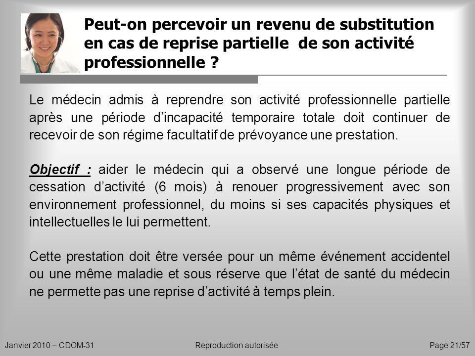 Peut-on percevoir un revenu de substitution en cas de reprise partielle de son activité professionnelle