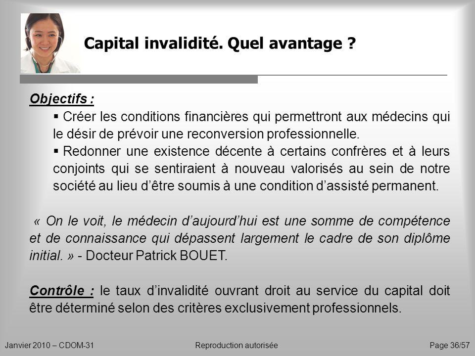 Capital invalidité. Quel avantage
