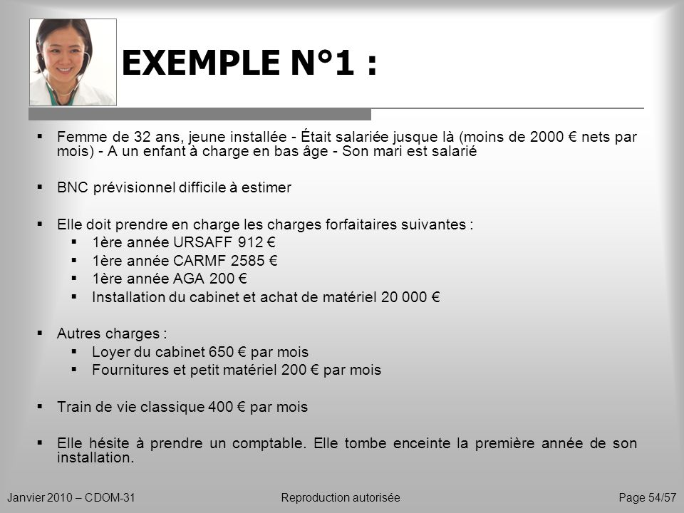 EXEMPLE N°1 :