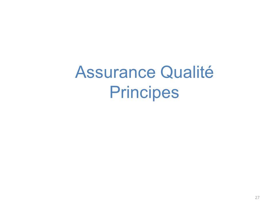 Assurance Qualité Principes