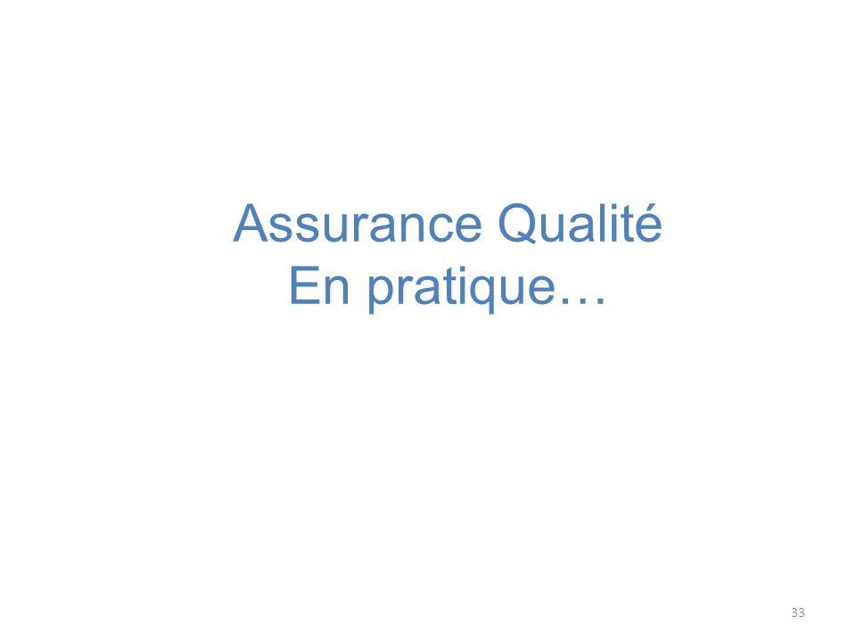 Assurance Qualité En pratique…