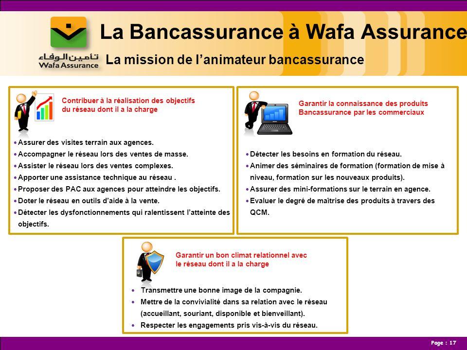 La Bancassurance à Wafa Assurance La mission de l'animateur bancassurance
