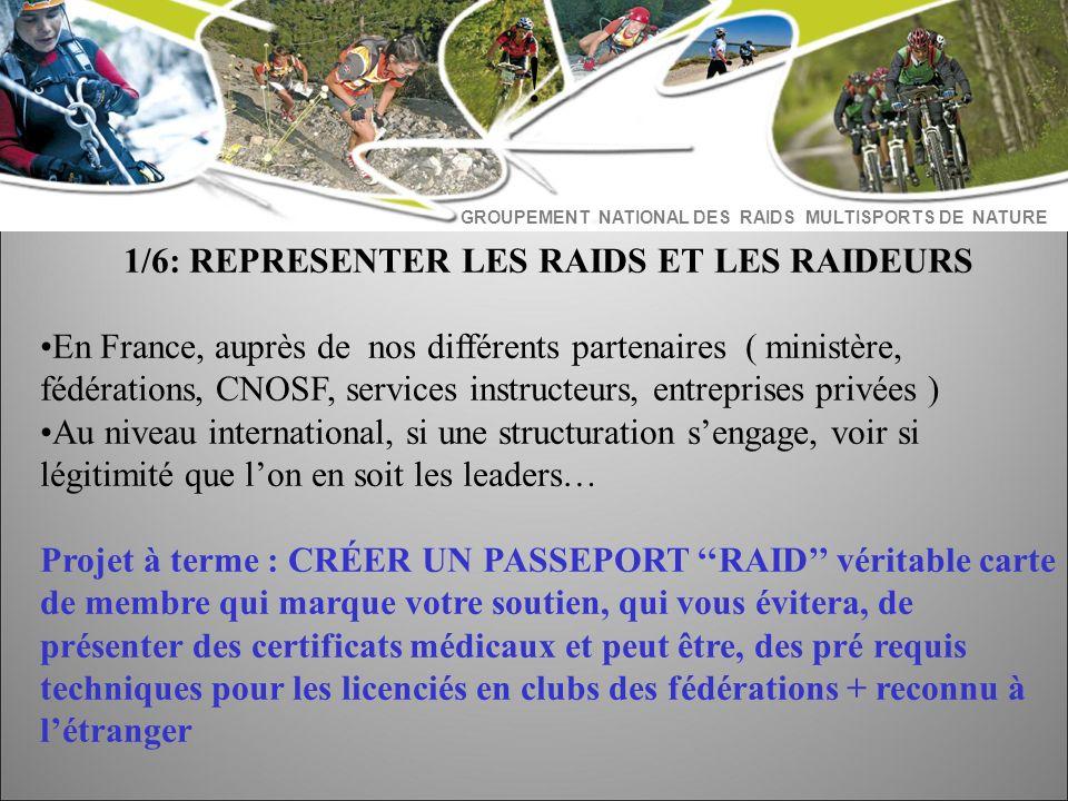 1/6: REPRESENTER LES RAIDS ET LES RAIDEURS