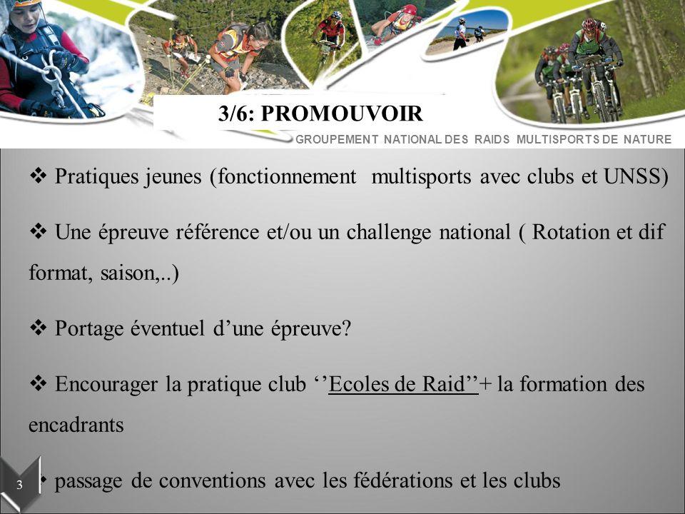 3/6: PROMOUVOIR Pratiques jeunes (fonctionnement multisports avec clubs et UNSS)
