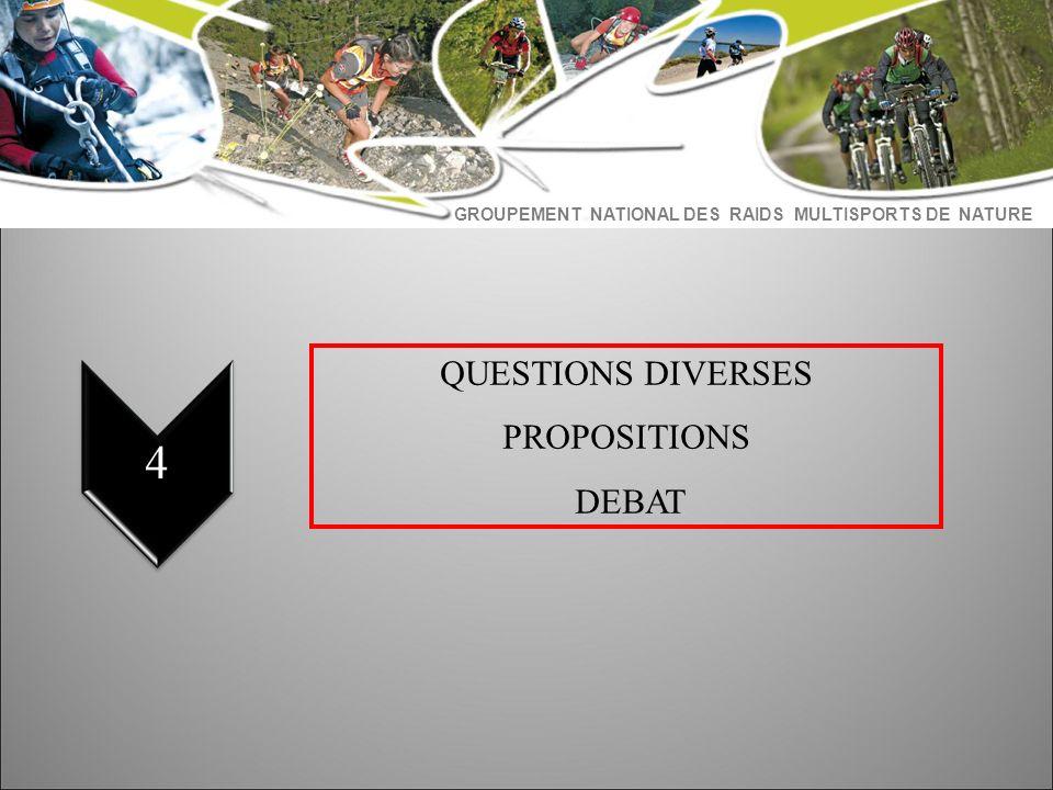 QUESTIONS DIVERSES PROPOSITIONS DEBAT