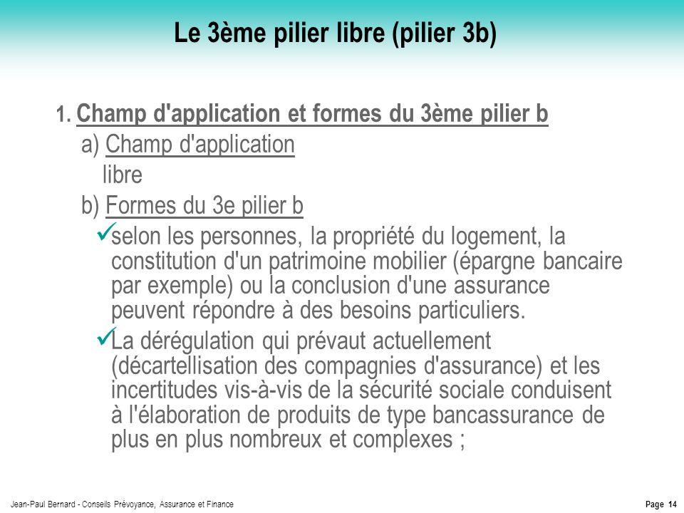Le 3ème pilier libre (pilier 3b)