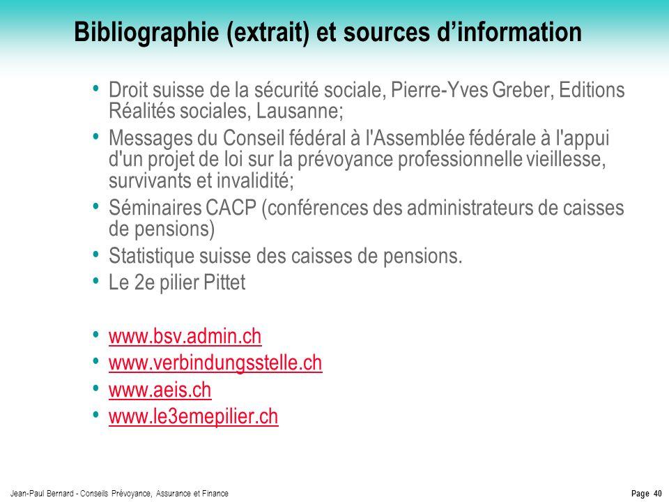 Bibliographie (extrait) et sources d'information
