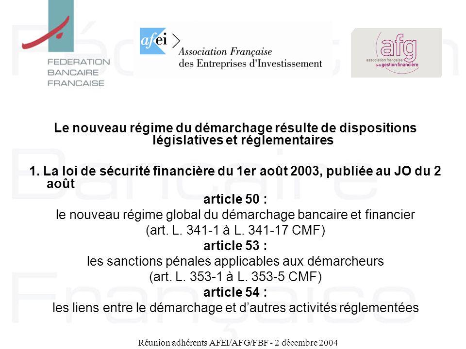 le nouveau régime global du démarchage bancaire et financier