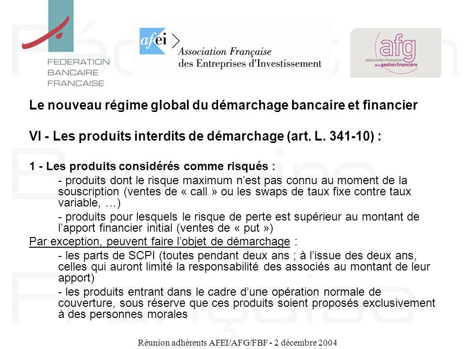 Réunion adhérents AFEI/AFG/FBF - 2 décembre 2004