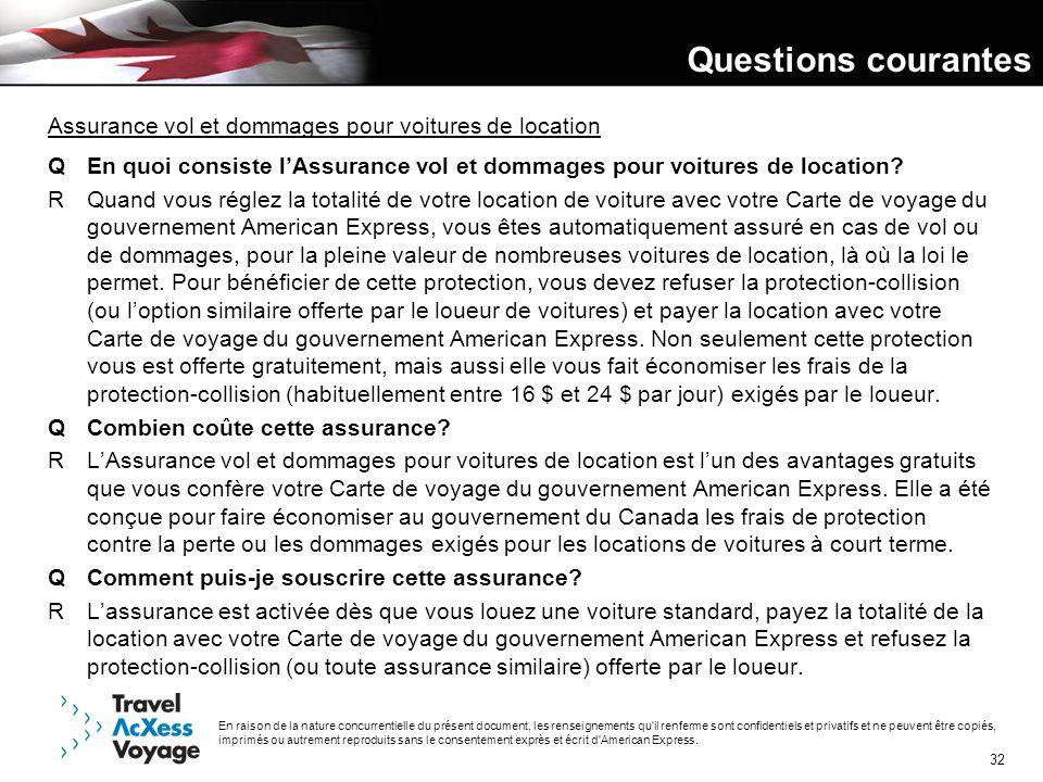 Questions courantes Assurance vol et dommages pour voitures de location. Q En quoi consiste l'Assurance vol et dommages pour voitures de location