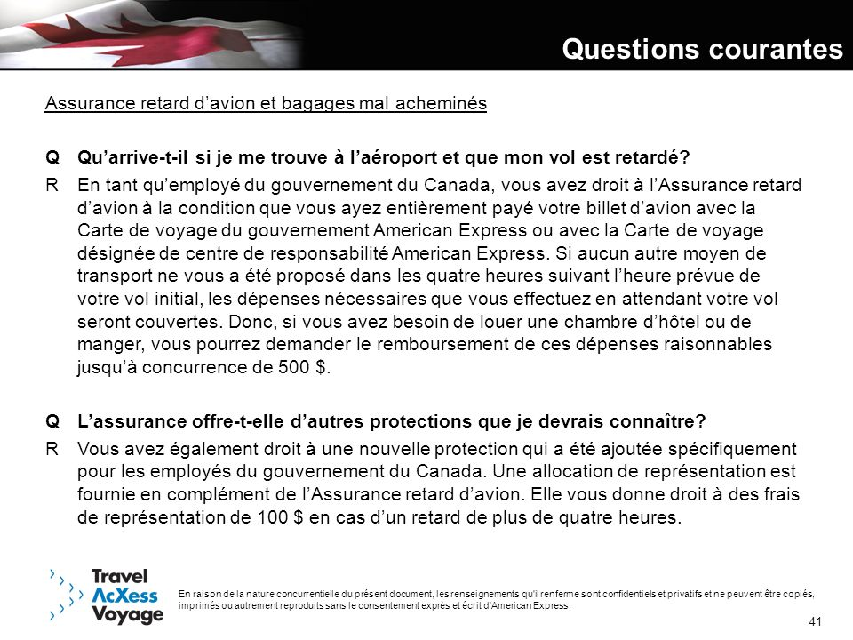 Questions courantes Assurance retard d'avion et bagages mal acheminés