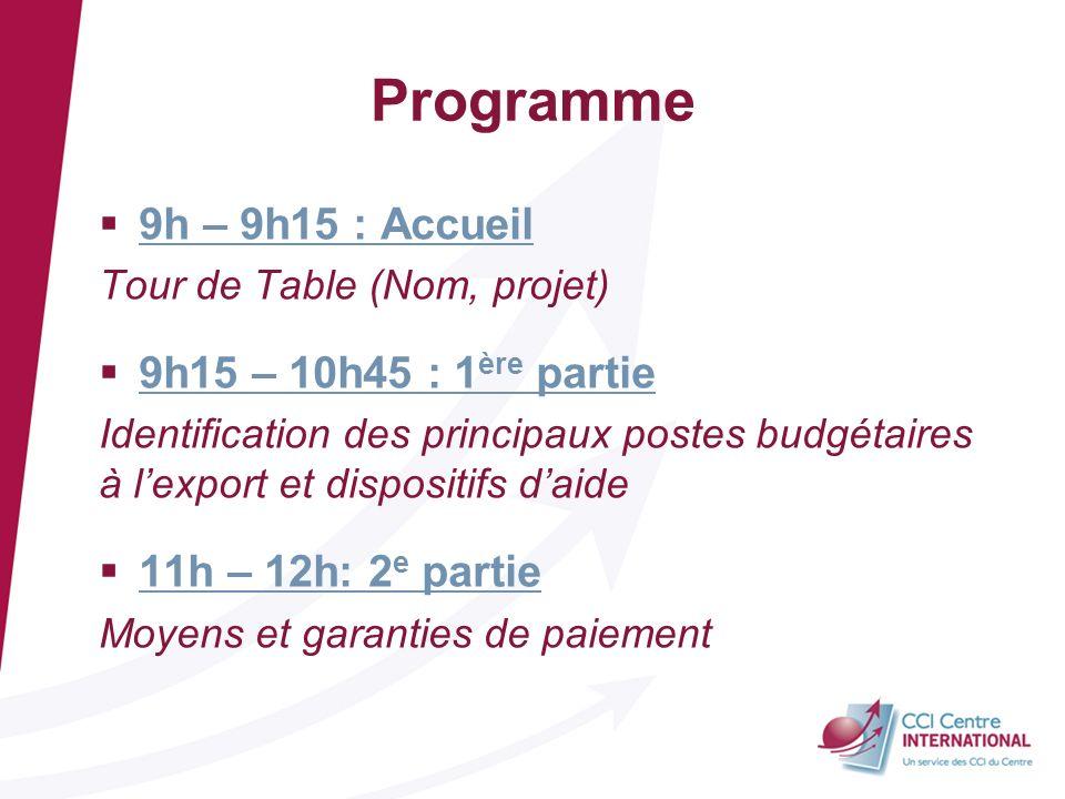 Programme 9h – 9h15 : Accueil 9h15 – 10h45 : 1ère partie