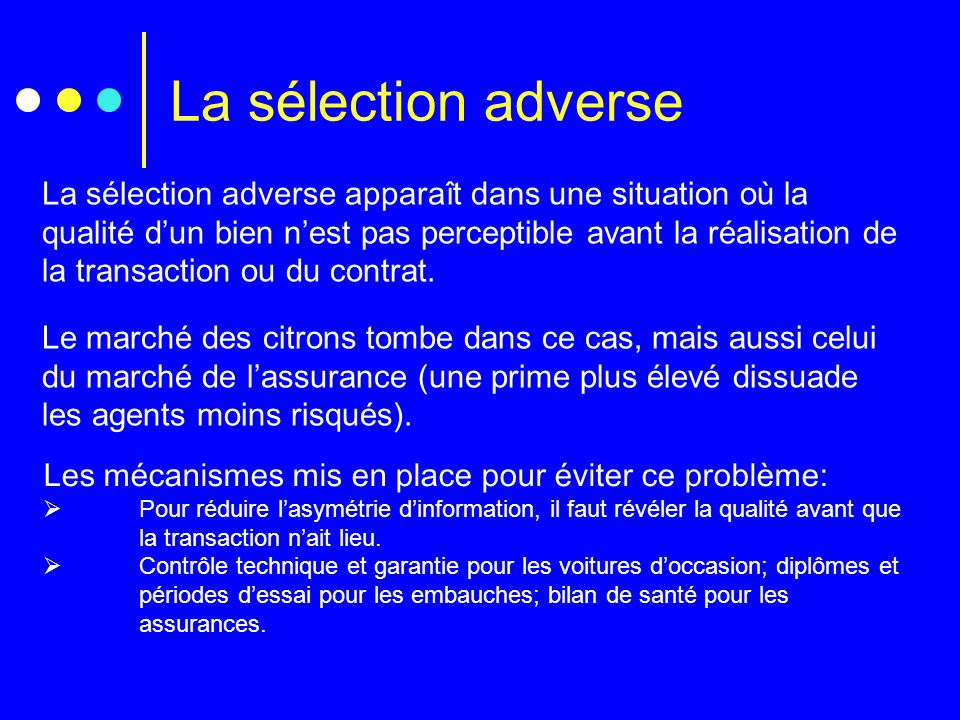La sélection adverse