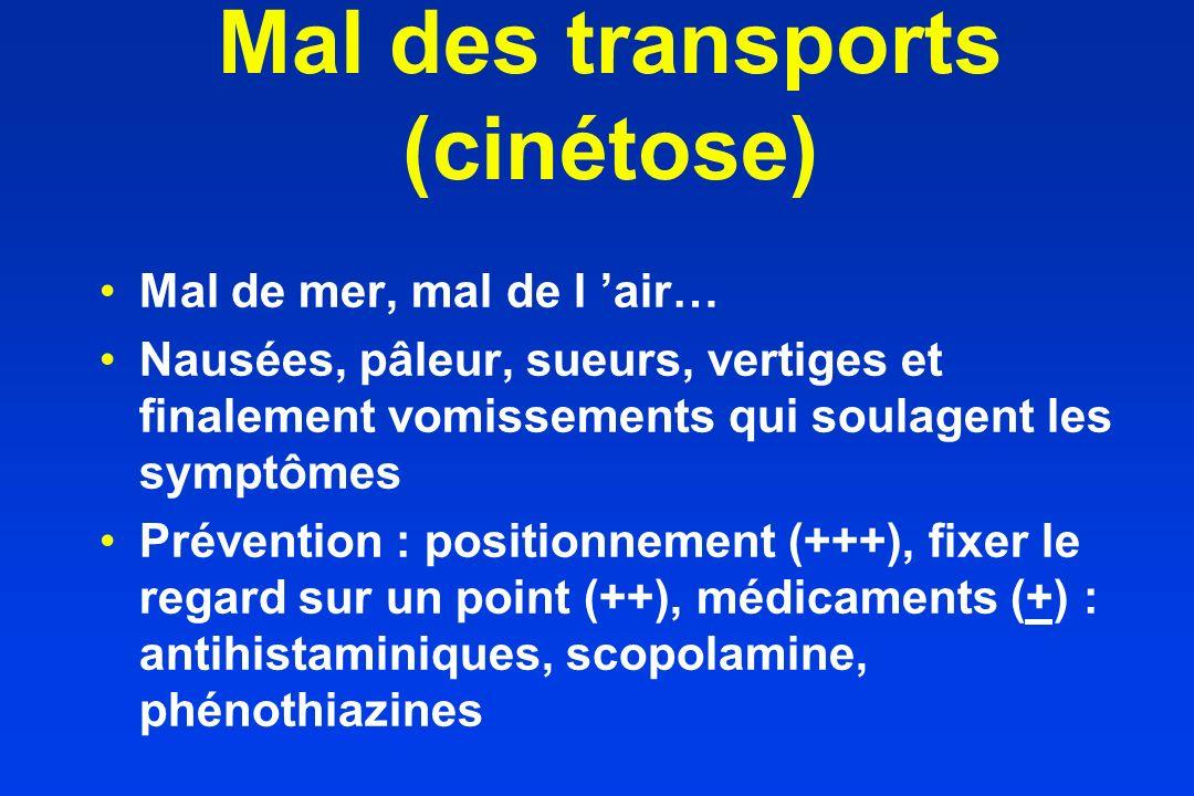 Mal des transports (cinétose)